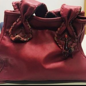 POUPA LITZA Large and Roomy Leather Shopper Tote
